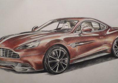 """Aston Martin Vanquish"" Värvipliiatsid, 2013"