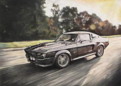"""1967 Mustang Shelby GT500 Eleanor"" Pastellpliiatsid, 2013"